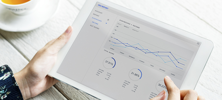 Charts on a tablet