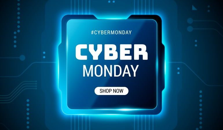 Cyber Monday promo sign