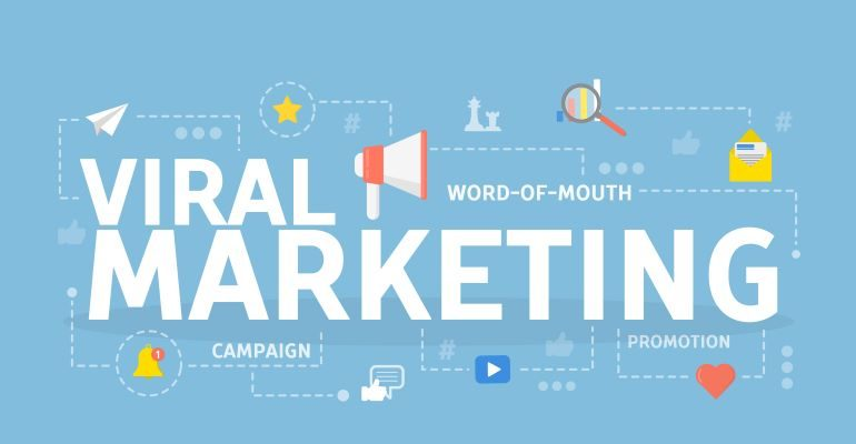 Viral marketing illustration