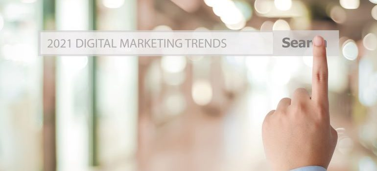 2021 Digital Marketing Trends in search bar.